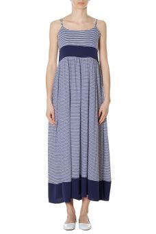 Abito Donna Long Dress Stripes Sun68 T18212 PESN