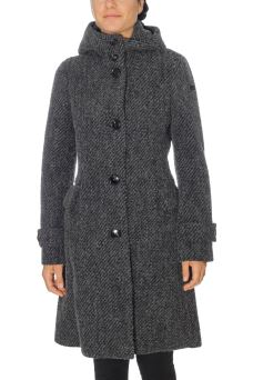 Cappotto Donna Wool Jacquard Parka Lady RRD W17533